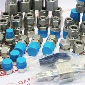 Гайка и набор обжимных колец из нерж. стали (1 гайка/ 1 переднее кольцо/ 1 заднее кольцо) для трубного обжимного фитинга 12 мм. Артикульный номер SS-12M0-NFSET