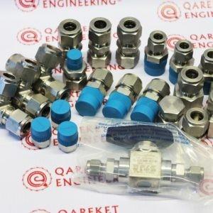 Cоединитель с внутренней резьбой Swagelok, наруж. диам. трубки 1/4 дюйма х внутренняя цилиндрическая (манометрическая) резьба ISO 1/4 дюйма Артикульный номер SS-400-7-4RG
